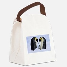 emperor penguins Canvas Lunch Bag