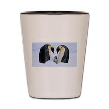 emperor penguins Shot Glass