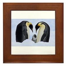 emperor penguins Framed Tile