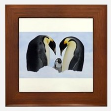 emperor penguins Framed Tile