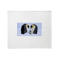 emperor penguins Throw Blanket