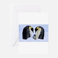 emperor penguins Greeting Cards