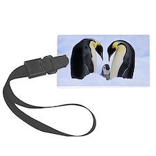 emperor penguins Luggage Tag