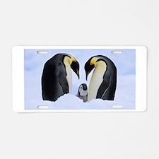 emperor penguins Aluminum License Plate
