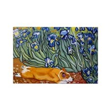 Cute Dog Rectangle Magnet (100 pack)