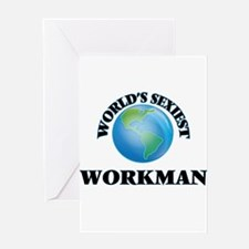 World's Sexiest Workman Greeting Cards