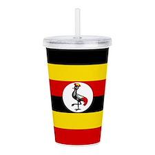 Uganda Flag Acrylic Double-wall Tumbler