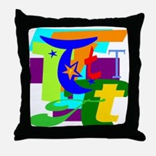 Initial Design (T) Throw Pillow