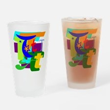 Initial Design (T) Drinking Glass