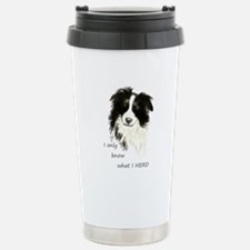 Watercolor Border Collie Dog Humor Herding Quote T