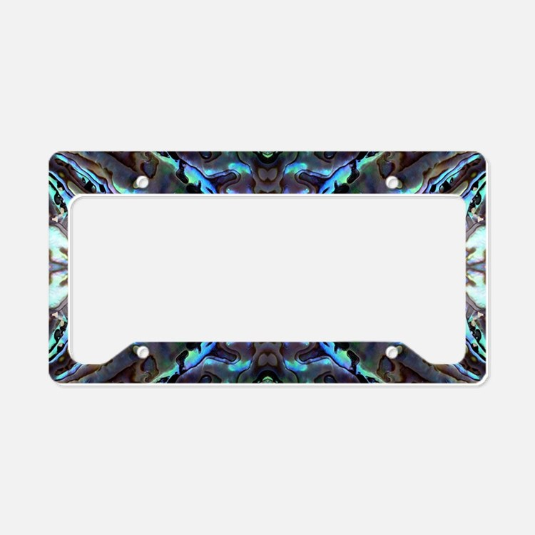 Abalone License Plate Holder
