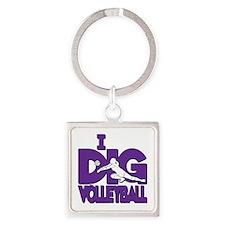 I DIG VB Square Keychain