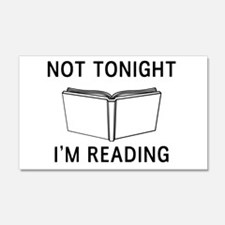 Not tonight I'm reading Wall Decal