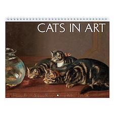 Cats In Art Wall Calendar