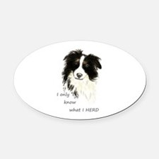 Watercolor Border Collie Dog Humor Herding Quote O