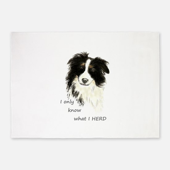Watercolor Border Collie Dog Humor Herding Quote 5