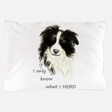 Watercolor Border Collie Dog Humor Herding Quote P