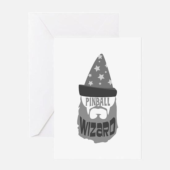 pinball wizard Greeting Cards