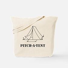 Pitch a tent camp Tote Bag