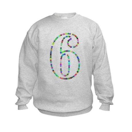 Rainbow Star Number Six Sweatshirt
