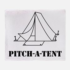 Pitch a tent camp Throw Blanket