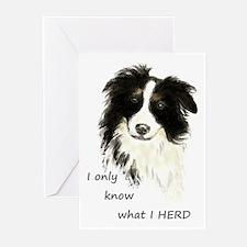 Watercolor Border Collie Dog Humor Herding Quote G