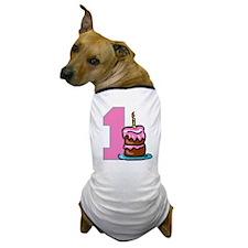 cake01-pink.png Dog T-Shirt