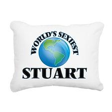 World's Sexiest Stuart Rectangular Canvas Pillow