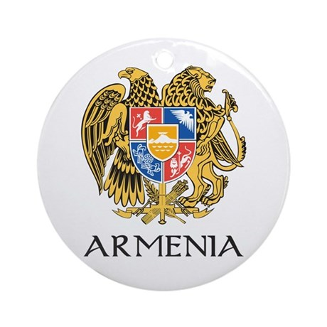Armenian Coat of Arms Ornament (Round)
