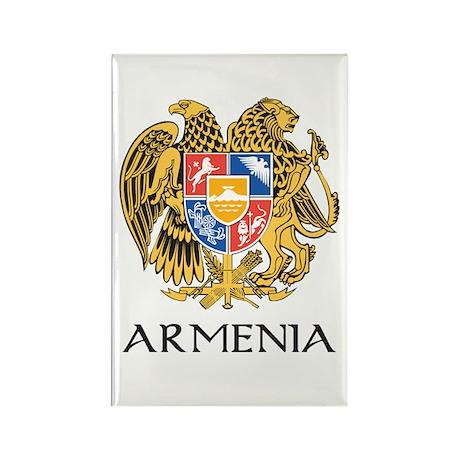 Armenian Coat of Arms Rectangle Magnet