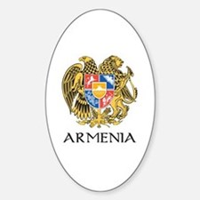 Armenian Coat of Arms Oval Decal
