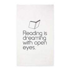 Reading is dreaming with open eyes. 3'x5' Area Rug