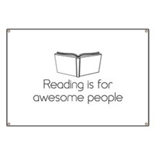 Reading is for awesome people Banner