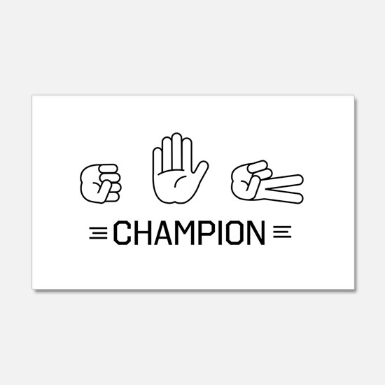 rock paper scissors champion. Wall Decal