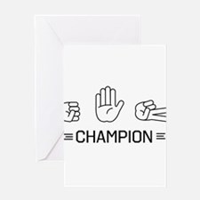 rock paper scissors champion. Greeting Cards