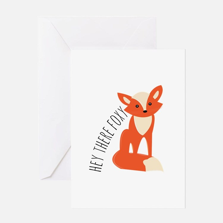 Hey There Foxy Greeting Cards
