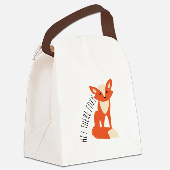 Hey There Foxy Canvas Lunch Bag