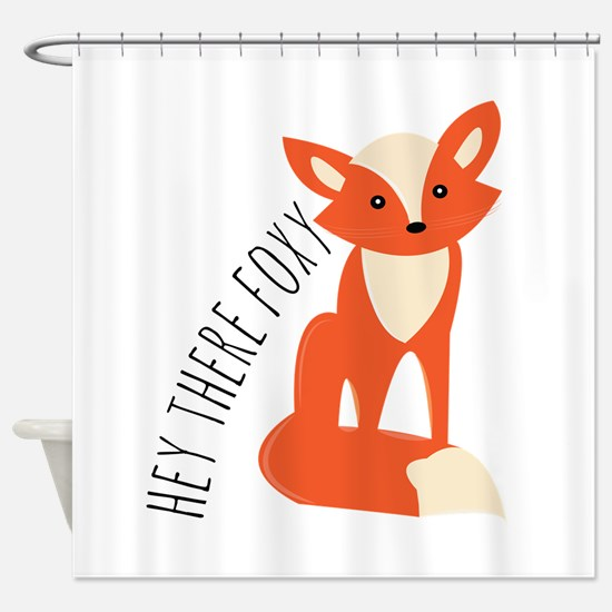 Hey There Foxy Shower Curtain