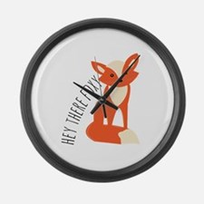 Hey There Foxy Large Wall Clock