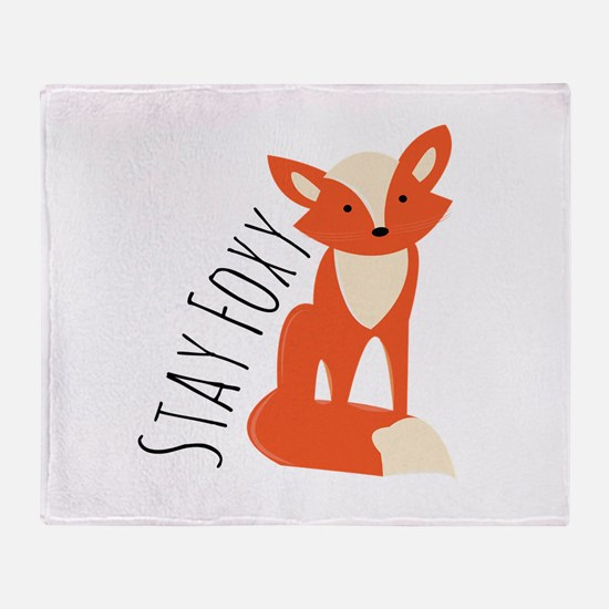 Stay Foxy Throw Blanket