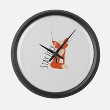 Stay Foxy Large Wall Clock