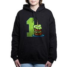 cake01-green.png Women's Hooded Sweatshirt