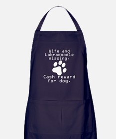 Wife And Labradoodle Missing Apron (dark)