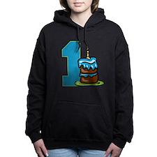 Cake with One Candle Women's Hooded Sweatshirt