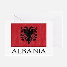 Albania Flag Greeting Cards (Pk of 10)