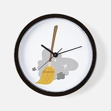 Sweep Broom Wall Clock