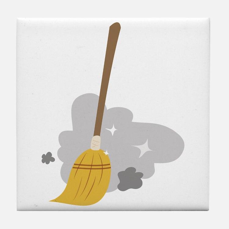 Sweep Broom Tile Coaster