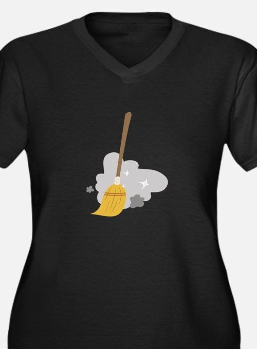 Sweep Broom Plus Size T-Shirt