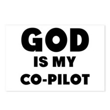 god is my co pilot Postcards (Package of 8)