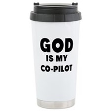 god is my co pilot Travel Mug